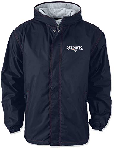 Dunbrooke NFL Legacy Nylon Hooded Jacket (Large, New England Patriots)