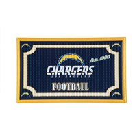 LOS ANGELES CHARGERS EMBOSSED DOOR MAT