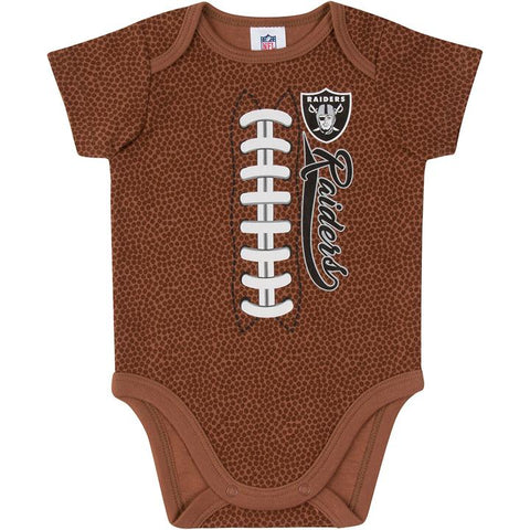 Las Vegas Raiders Baby Boys Football Short Sleeve Bodysuit 6-12m