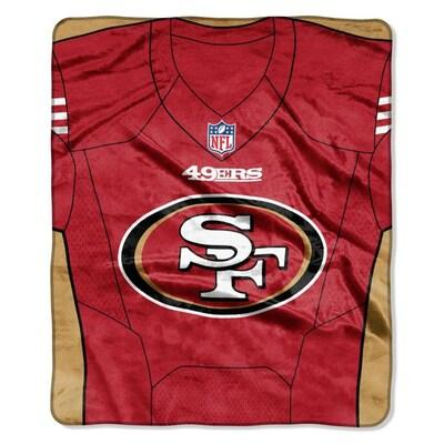 San Francisco 49ers  50x60 Royal Plush Raschel Jersey Throw