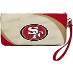 49ers - Little Earth Womens Curve Zip Organizer Wallet