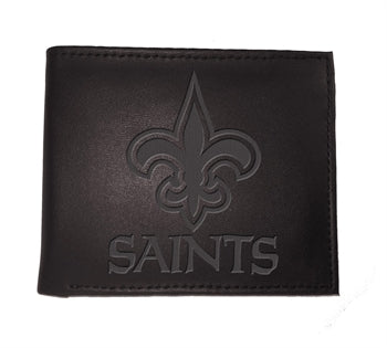 New Orleans Saints Black Bi-Fold Wallet