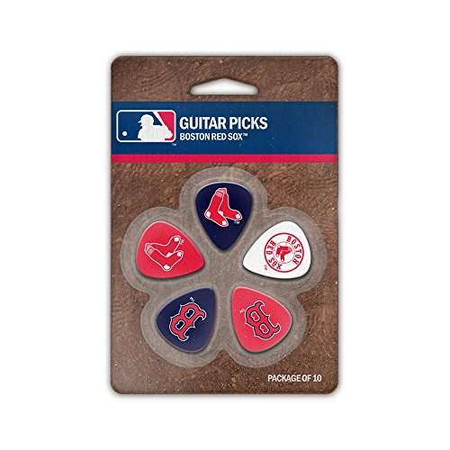 The Sports Vault MLB Boston Red Sox GPMLB04Guitar Picks, Multi, One Size