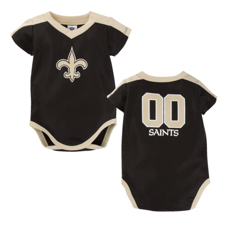 New Orleans Saints Baby Boy Jersey Bodysuit 18M