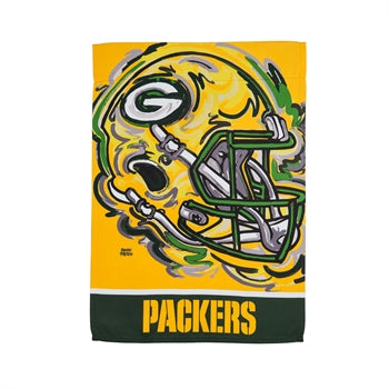 Green Bay Packers , Garden Flag by Justin Patten