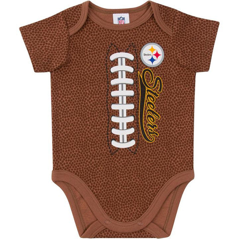 Pittsburgh Steelers Baby Boys Football Short Sleeve Bodysuit 6-12m