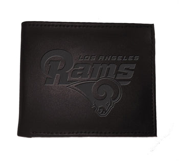 LA Rams Black Bi-Fold Wallet