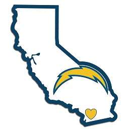L.A. Chargers Home State Decal