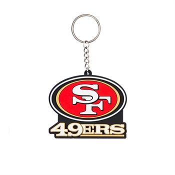 San Francisco 49ers Rubber Keychain