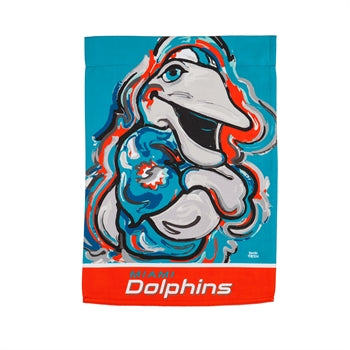 Miami Dolphins  , Garden Flag by Justin Patten