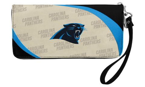 Panthers - Little Earth Womens Curve Zip Organizer Wallet