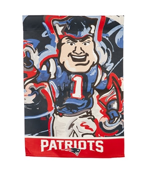 New England Patriots , Garden Flag by Justin Patten