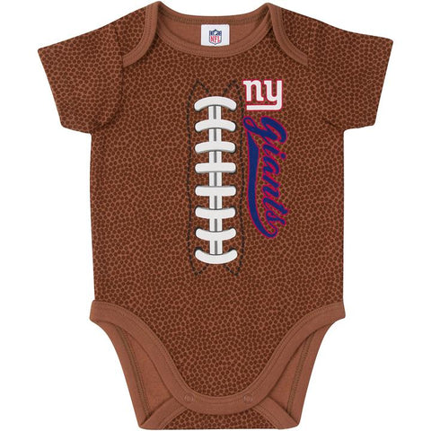 New York Giants Baby Boys Football Short Sleeve Bodysuit 6-12m