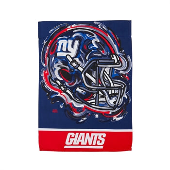 New York Giants , Garden Flag by Justin Patten