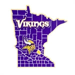 Minnesota Vikings State Shaped Wall Decor