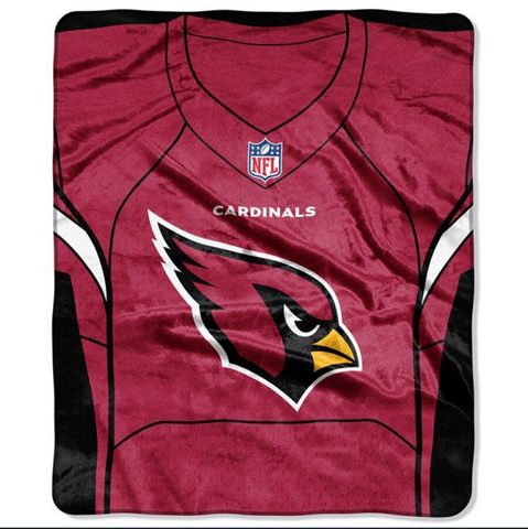 Cardinals -The Northwest Company 50x60 Royal Plush Raschel Jersey Throw