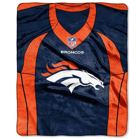 Broncos -The Northwest Company 50x60 Royal Plush Raschel Jersey Throw