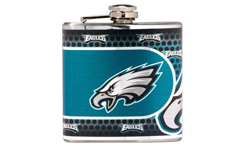 Eagles - Stainless Steel Hip Flask with Metallic Graphics