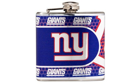 Giants - Stainless Steel Hip Flask with Metallic Graphics