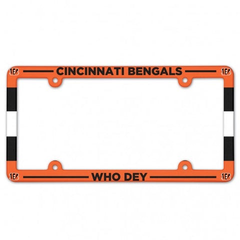 Cincinnati Bengals Full Color Plastic License Plate Frame
