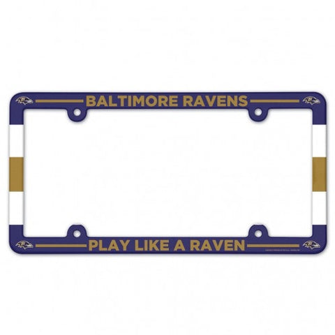 Baltimore Ravens Full Color Plastic License Plate Frame