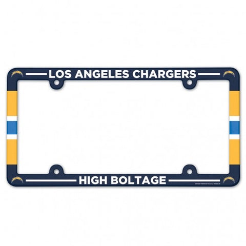 Los Angeles Chargers Full Color Plastic License Plate Frame