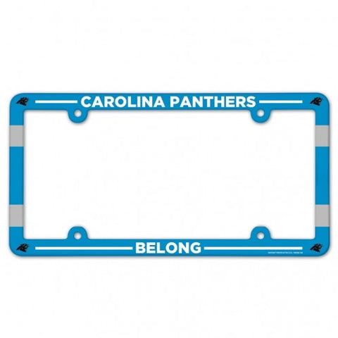Carolina Panthers Full Color Plastic License Plate Frame