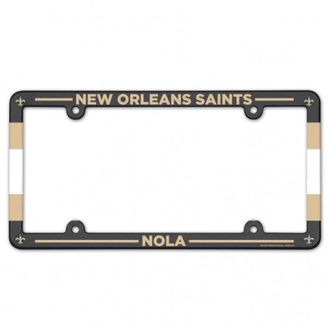 New Orlean Saints Full Color Plastic License Plate Frame
