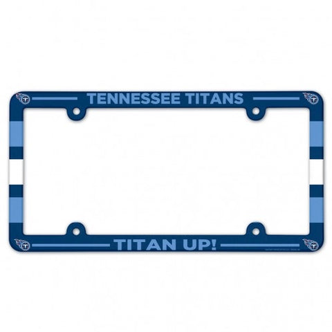Tennessee Titans Full Color Plastic License Plate Frame