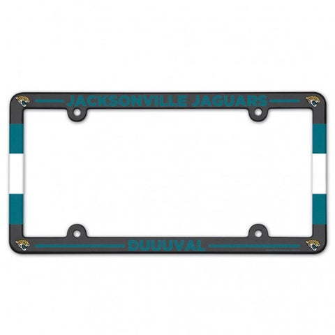 Jacksonville Jaguars Full Color Plastic License Plate Frame