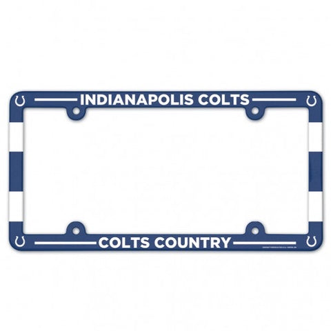 Indianapolis Colts Full Color Plastic License Plate Frame