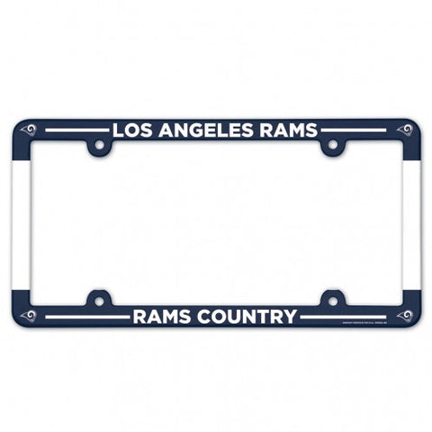 Los Angeles Rams Full Color Plastic License Plate Frame