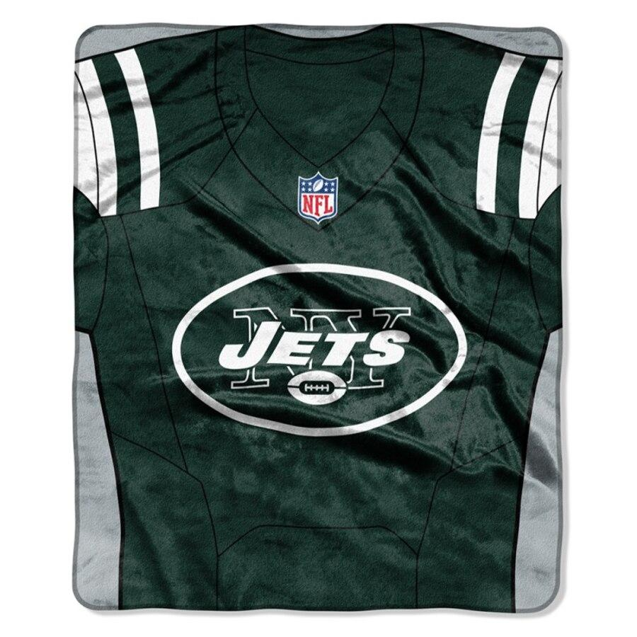Jets -The Northwest Company 50x60 Royal Plush Raschel Jersey Throw