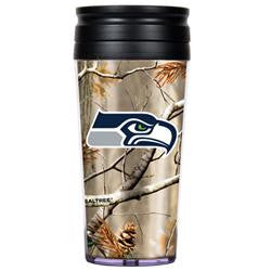 Seattle Seahawks 16oz Acrylic RealTree Travel Tumbler