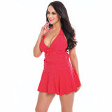 Vintage Plus Size Buckle Dress One Piece Swim Suit (4 colours)