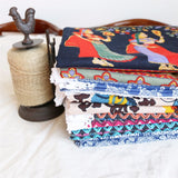 Ethnic Floral & Animal Print Cotton Linen Table Cloth