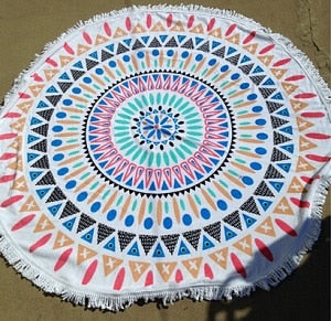 100% Cotton Bohemian Beach Towel (Rainbow Aztec)