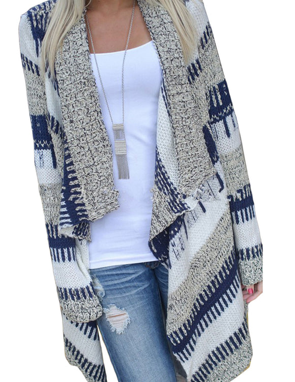 Crochet Long Sleeve Slim Cardigan