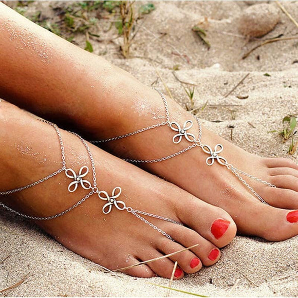 Bohemian Flower Barefoot Foot Jewellery