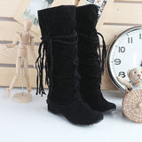 Boho Thigh High Tassel Boots (3 Colours)