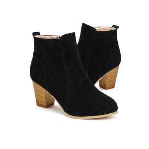 Fashion Faux Suede High Heeled Ankle Boots (3 Colours)