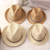 Summer Raffia Boho Straw Sun Hat (Beige or Khaki, 2 sizes)