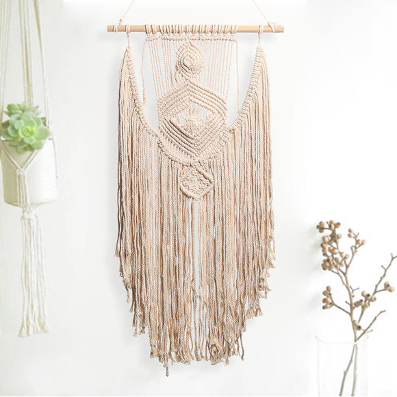 Boho Huge Handcrafted Macrame Diamond Wall Hanging
