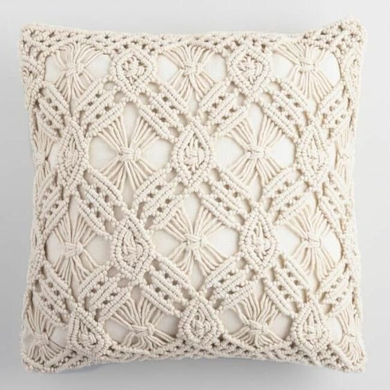 Boho Handmade Macrame Cushion Cover (4 sizes)