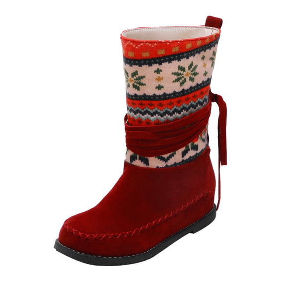 Boho/Vintage Middle Tube Ranch Boots (4 Colours)