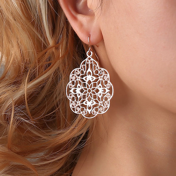 Vintage/Boho Ethnic Drop Earrings (3 Colours)