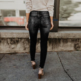 High Waisted Skinny Ripped Jeans (S - XL)
