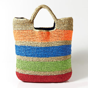 Fashion Colourful Straw Beach Bag