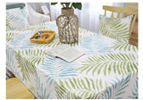 Boho Fresh Leaves Lace Tablecloth