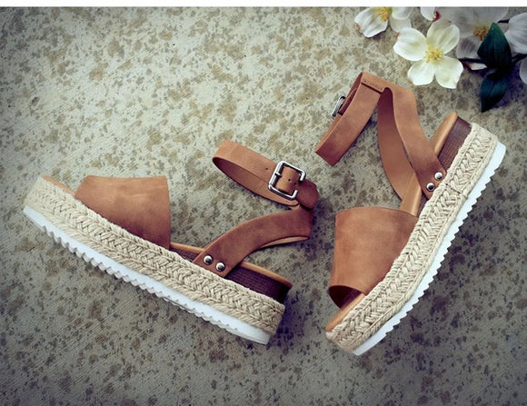 Boho Plus Size Wedge Sandals (8 Styles)